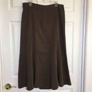 Emma James Brown Fit & Flare Skirt